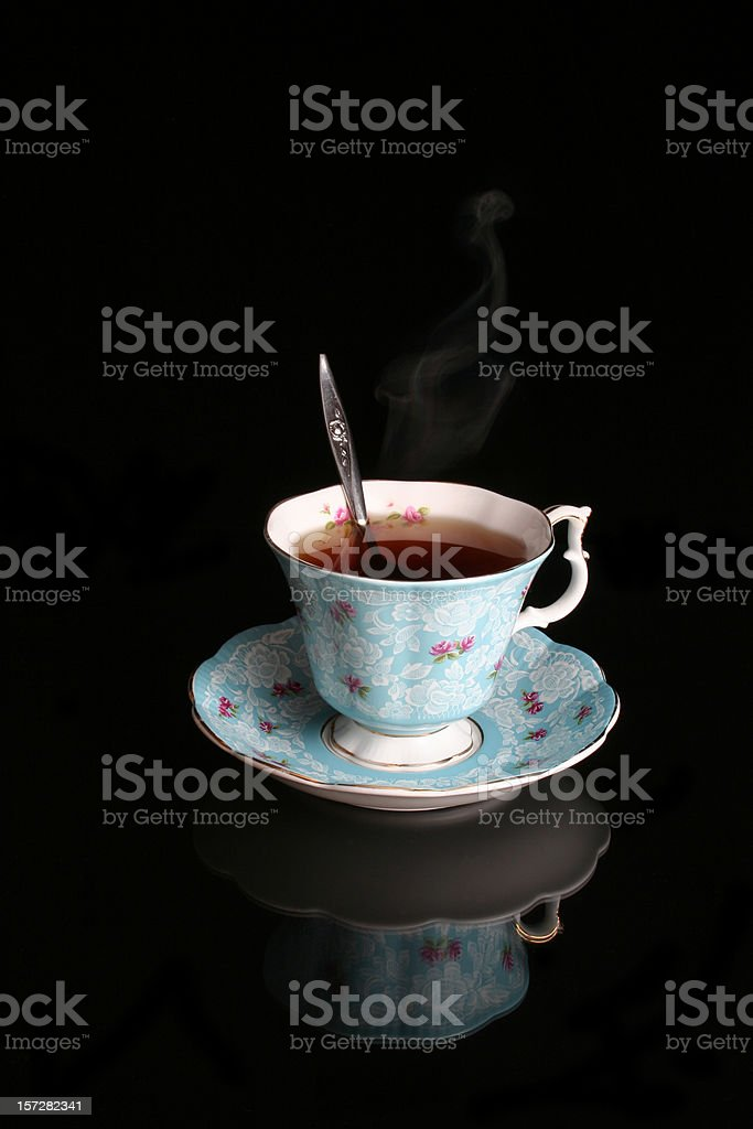 Antique Blue Tea Cup royalty-free stock photo