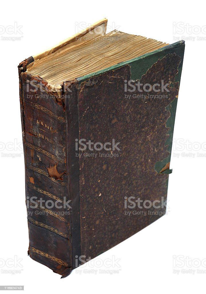 Antique book isolated on white background royalty-free stock photo