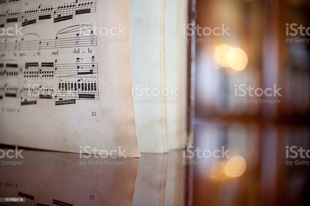 Antique Book of Music stock photo