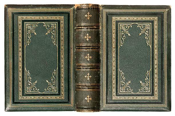 Antique book stock photo
