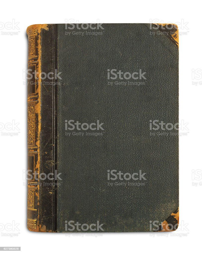 Antique book stock photo