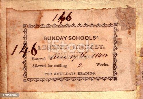 istock Antique Book Plate 173545043