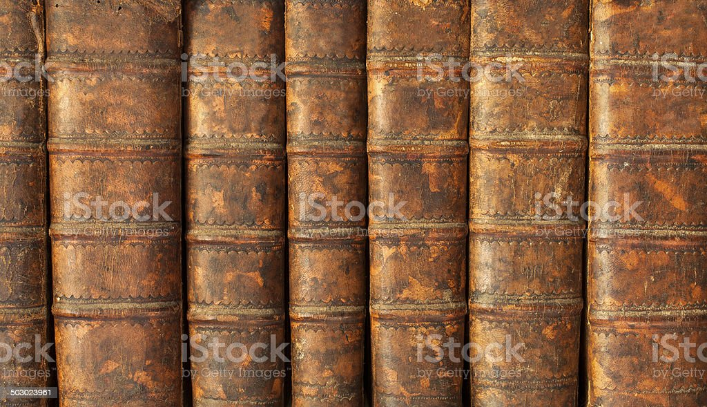 Antique book row royalty-free stock photo