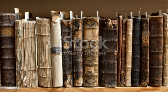 istock Antique books in a library 175389561