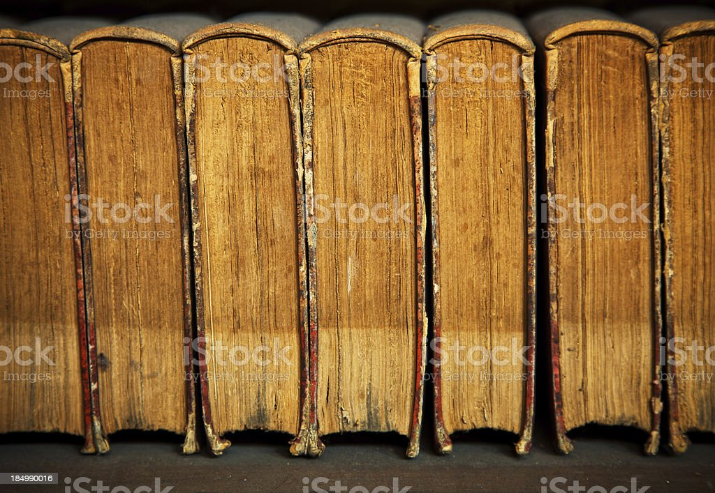 Antique Books in an old Library