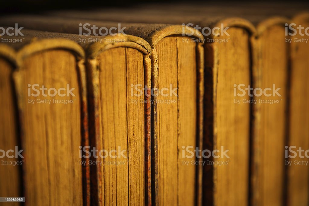 Antique Books in an old Library royalty-free stock photo