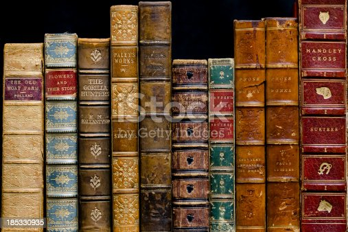 istock Antique Books on a Shelf 185330935