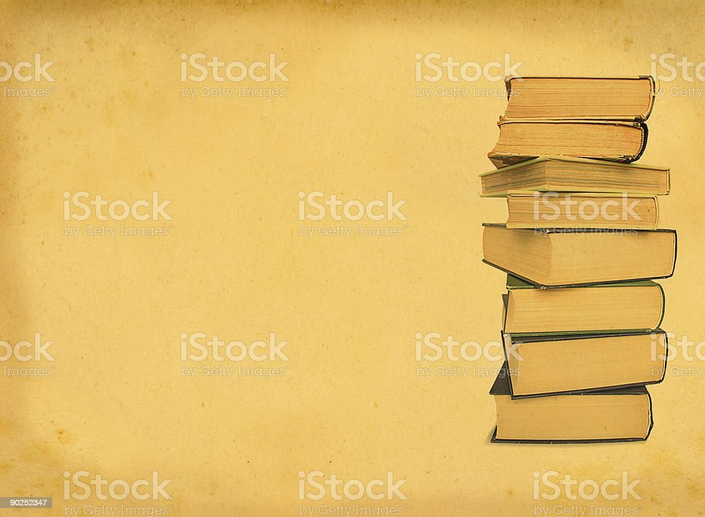 antique books on retro background stock photo