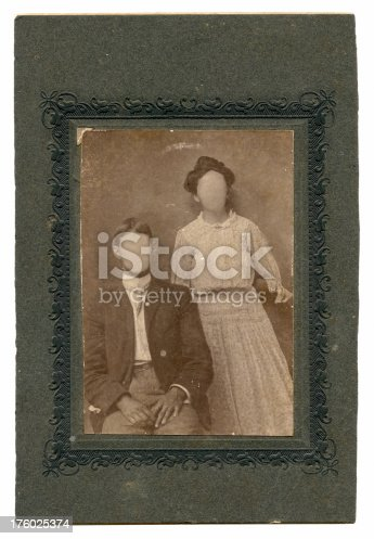istock Antique Border Frame with Married Folk 176025374
