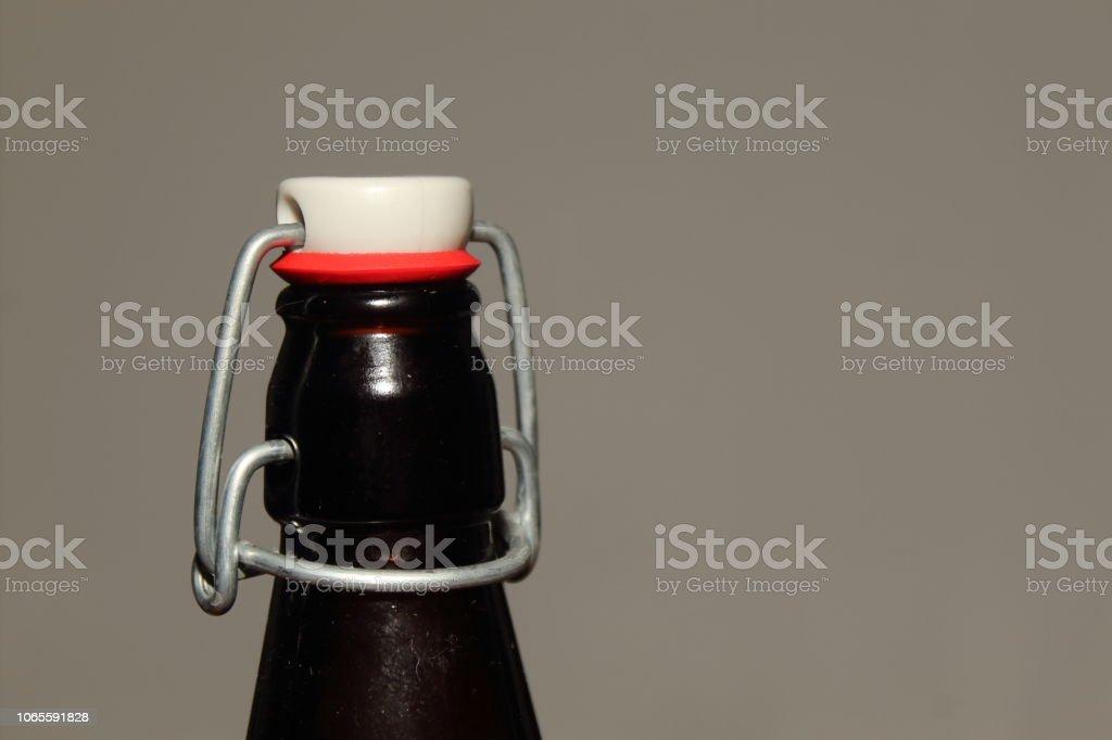 Antique Bottle Top Left stock photo