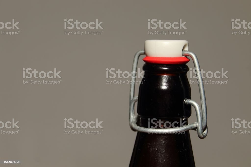 Antique Bottle Top Right stock photo
