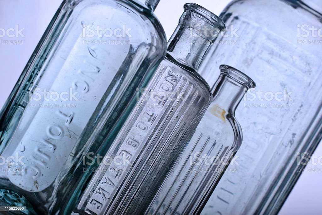 Antique bottles royalty-free stock photo
