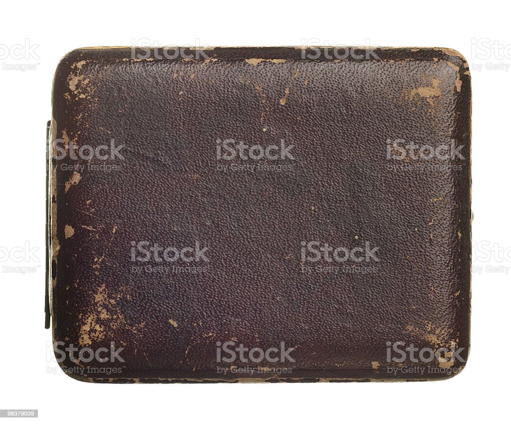 antique box isolated on white royalty-free stock photo