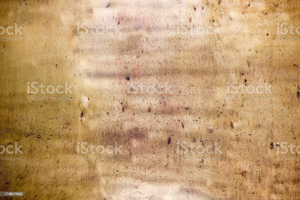 Antique brass plate background. royalty-free stock photo