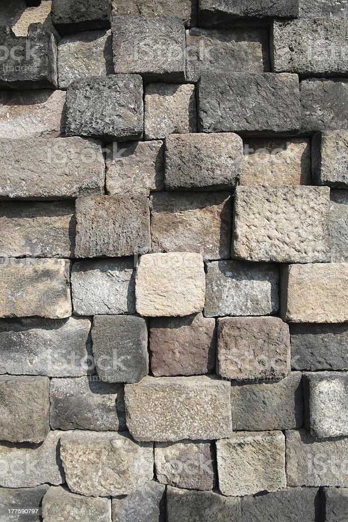 Antique brick wall royalty-free stock photo