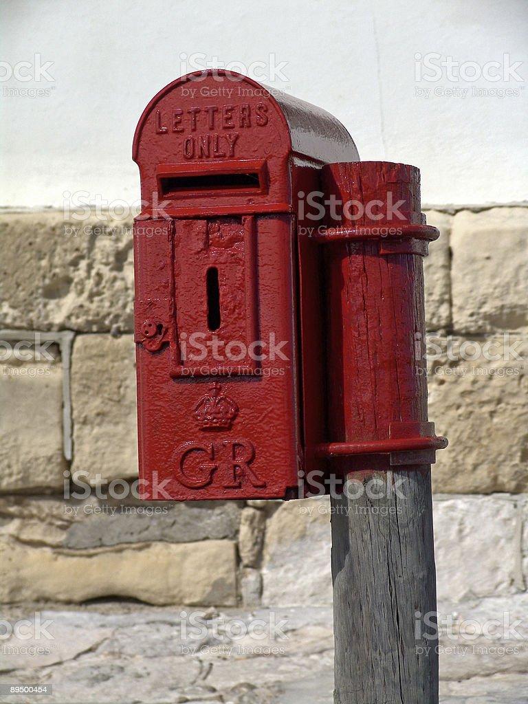 Antyczny British PO Box zbiór zdjęć royalty-free