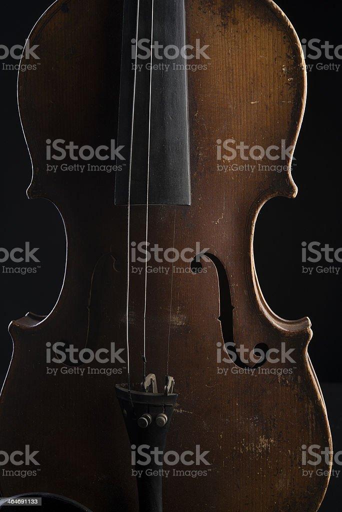 Antique Broken Violin stock photo