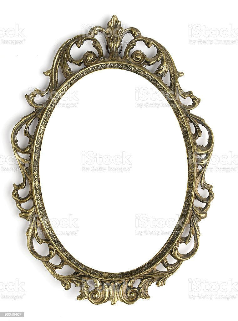 Antique bronze Frame royalty-free stock photo