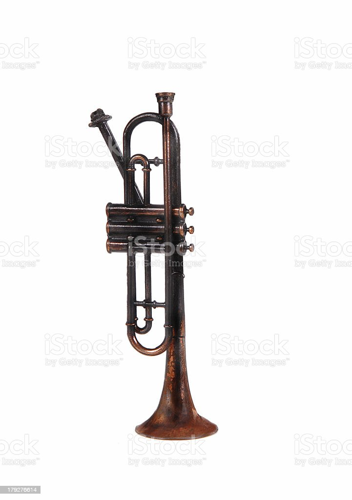 Antique Bugle royalty-free stock photo