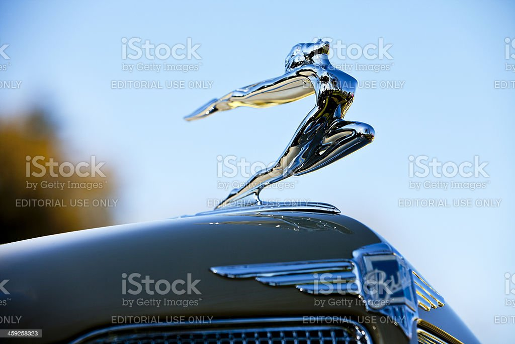 Antique Buick Hood Ornament stock photo