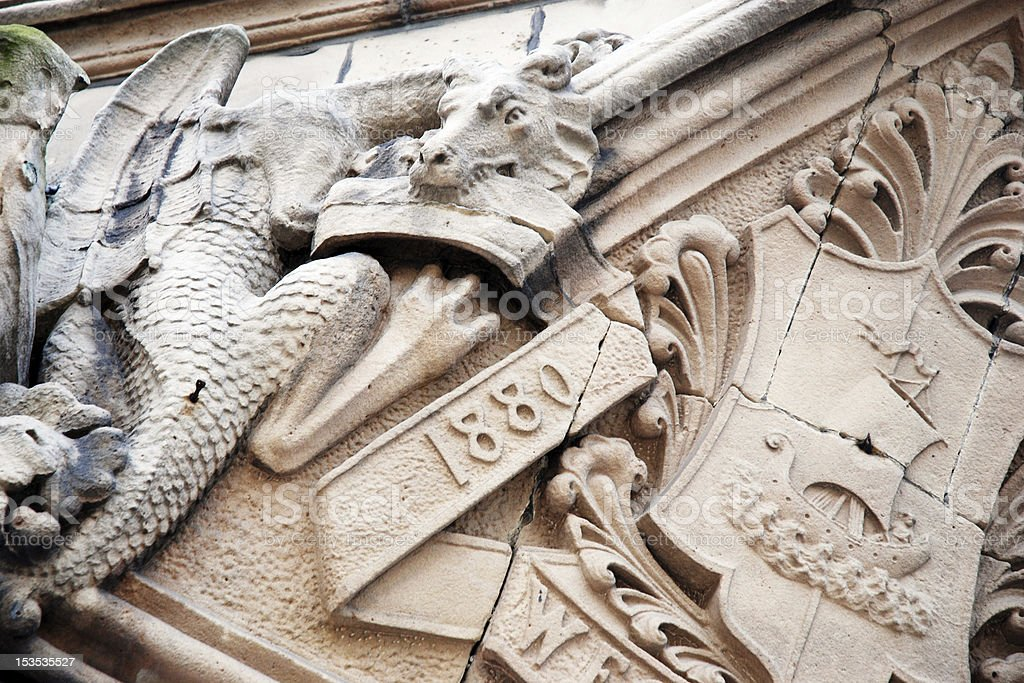 Antique building dragon decoration royalty-free stock photo
