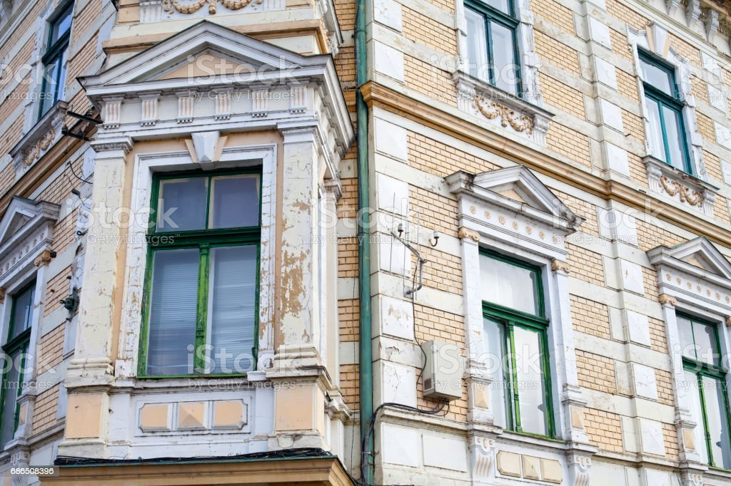 Antique building in Oradea's dowtown stock photo