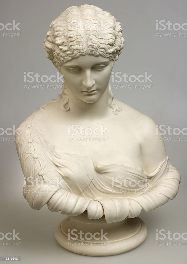 antique bust stock photo