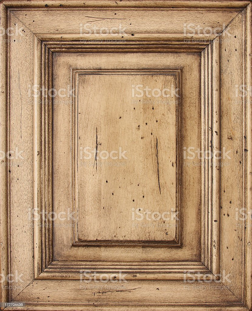 Antique Cabinet Door Frame stock photo