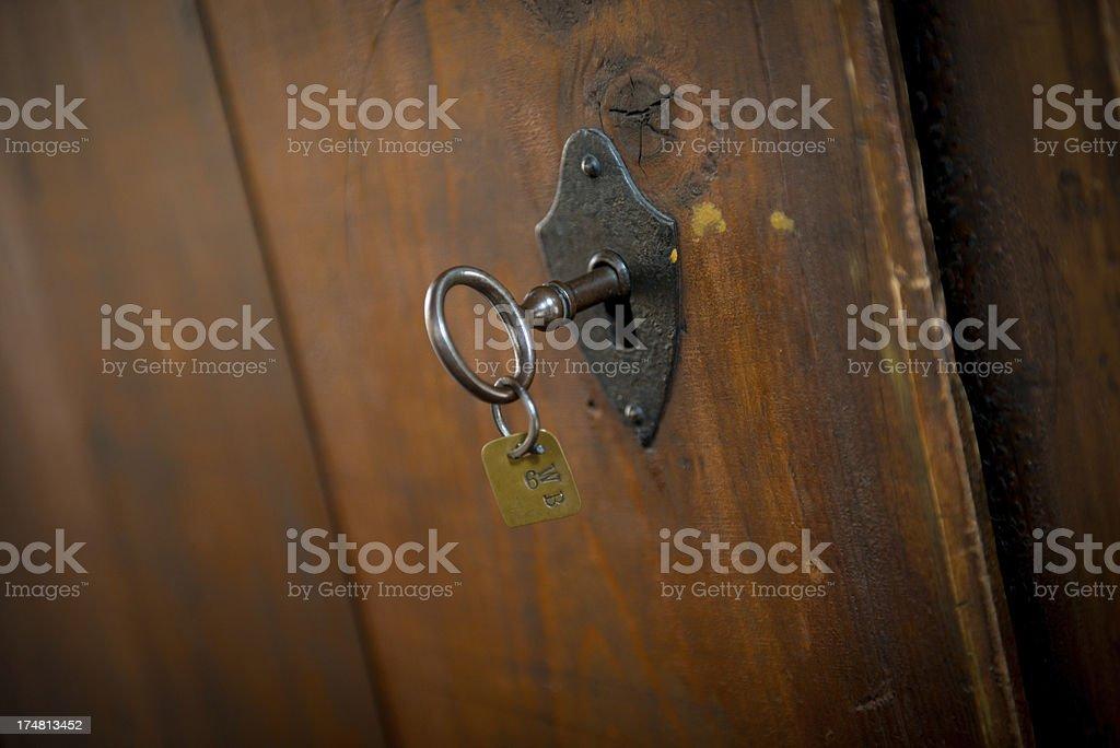 Antique Cabinet Key royalty-free stock photo