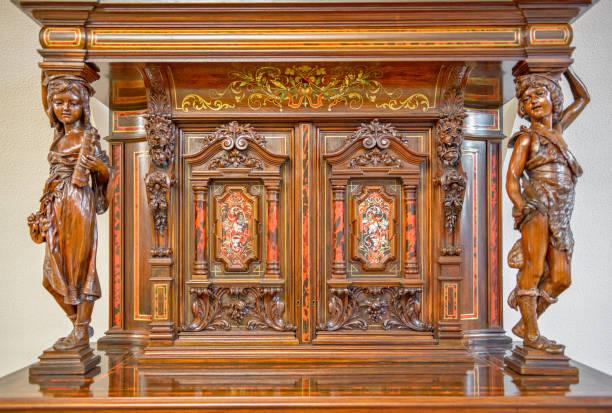 Antique cabinet stock photo