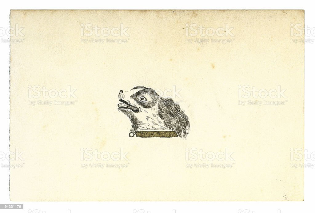 Antique Calling Card - 24 stock photo