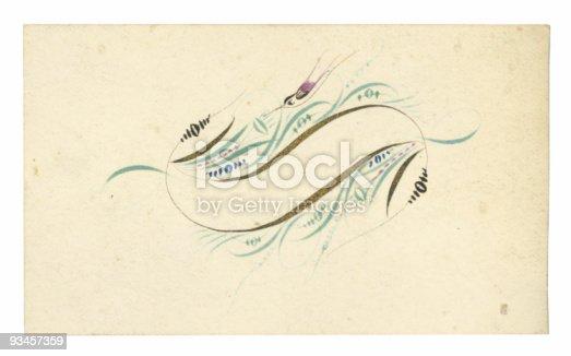 istock Antique Calling Card-10 93457359