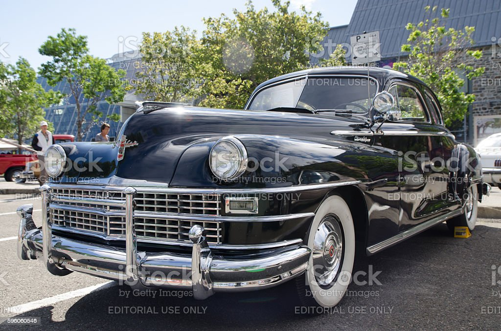 Antique Car: 1946 Chrysler New Yorker royalty-free stock photo