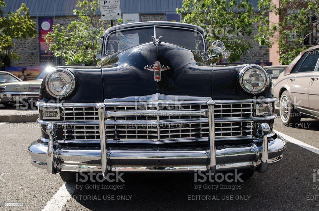 Antique Car: 1946 Chrysler New Yorker stock photo
