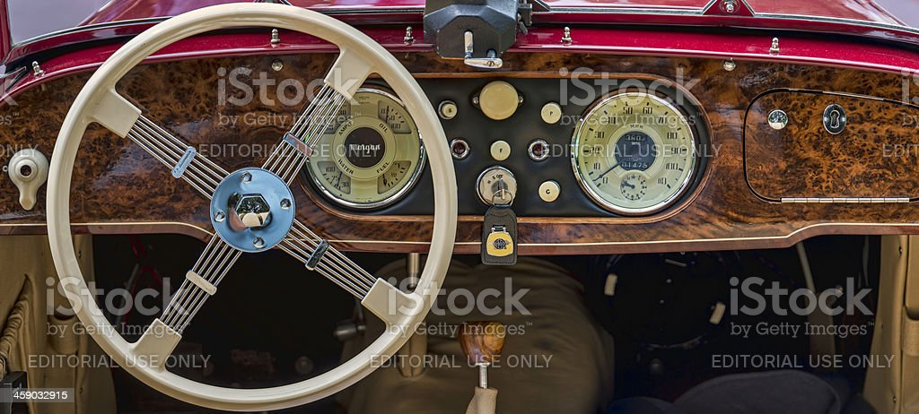 Antique Car Dashboard royalty-free stock photo