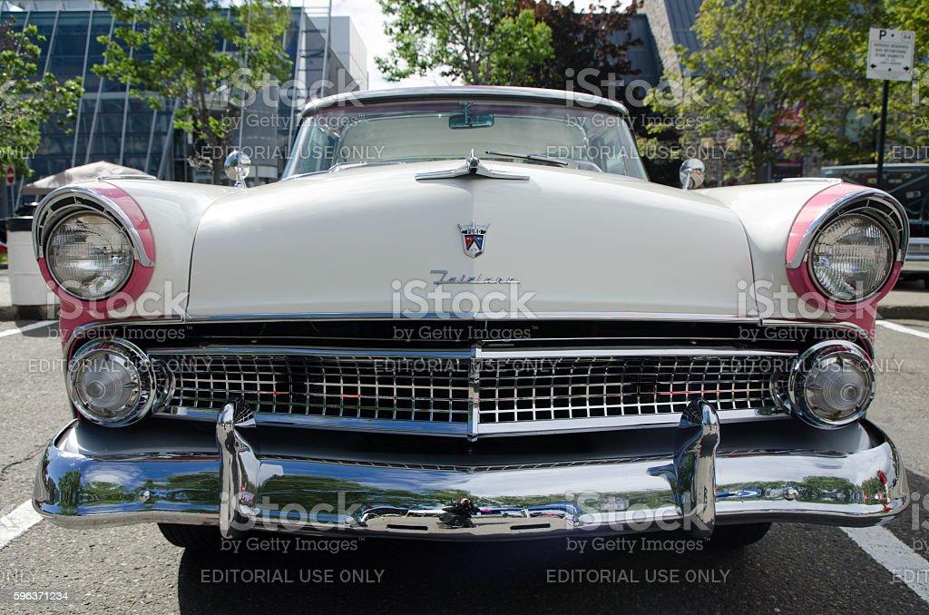 Antique Car: Ford Fairlane stock photo