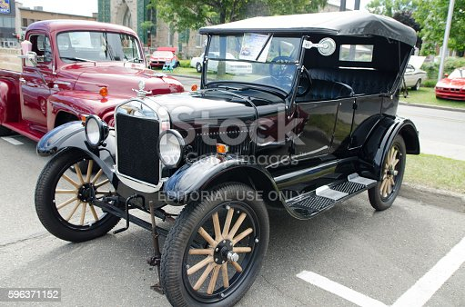 Rimouski, Canada - August 7, 2016: This is at an Antique Car Show Exposition during a weekend in Rimouski.