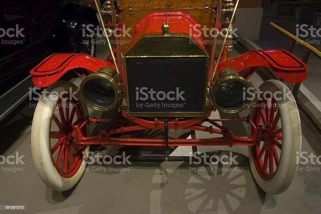 Antique Car Front royalty-free stock photo