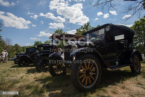 Chantilly, Virginia, USA  - June 19, 2016: Antique car show at Sully Plantation on Father's Day