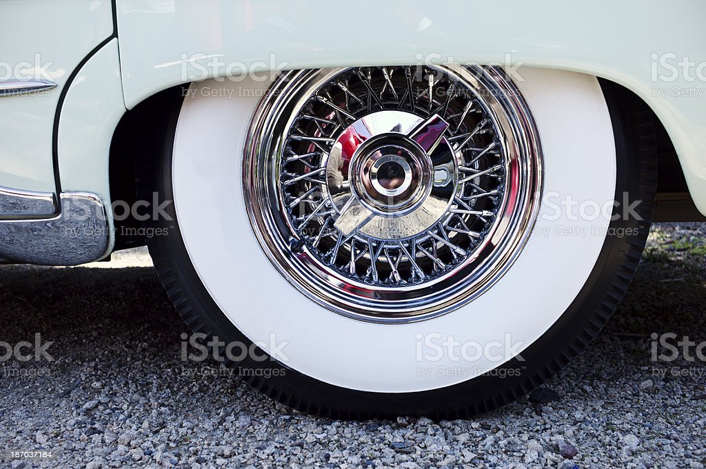 Antique Car with White Wall Tire. royalty-free stock photo