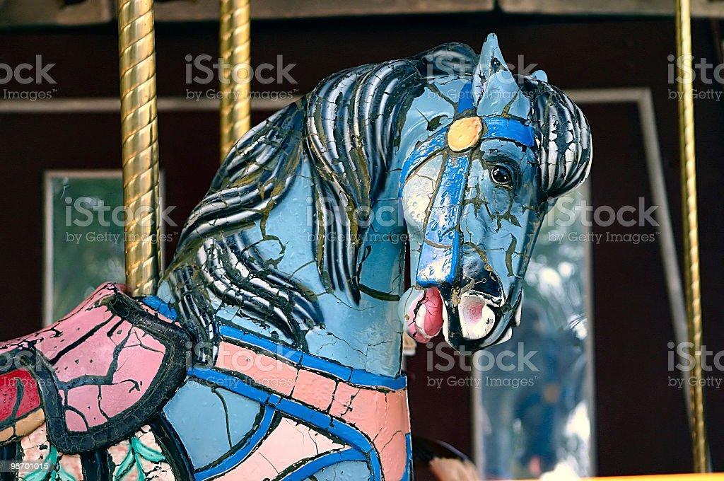 Antico giostra cavalli 2 foto stock royalty-free