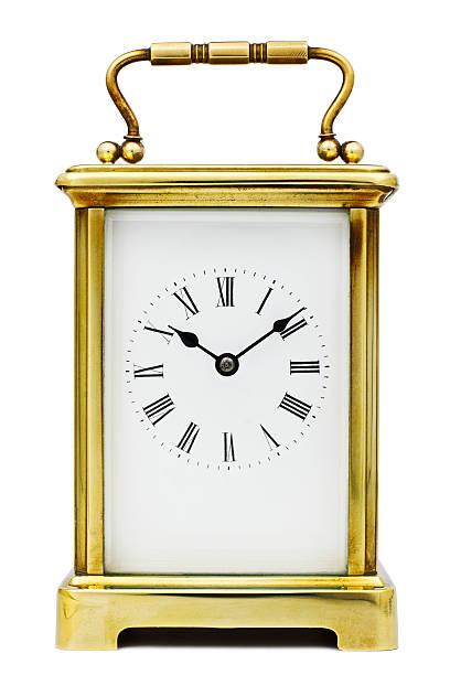 Antique Carriage Clock stock photo