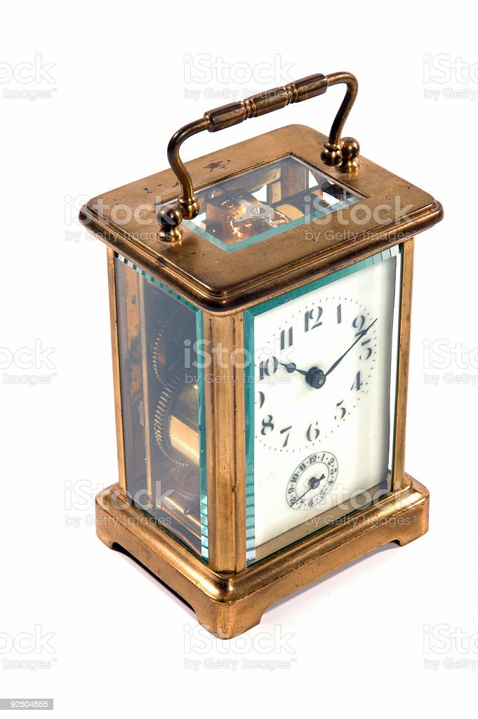 Antique Carriage Clock royalty-free stock photo