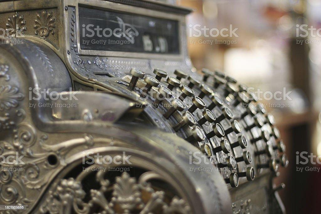 Antique cash register 3 stock photo
