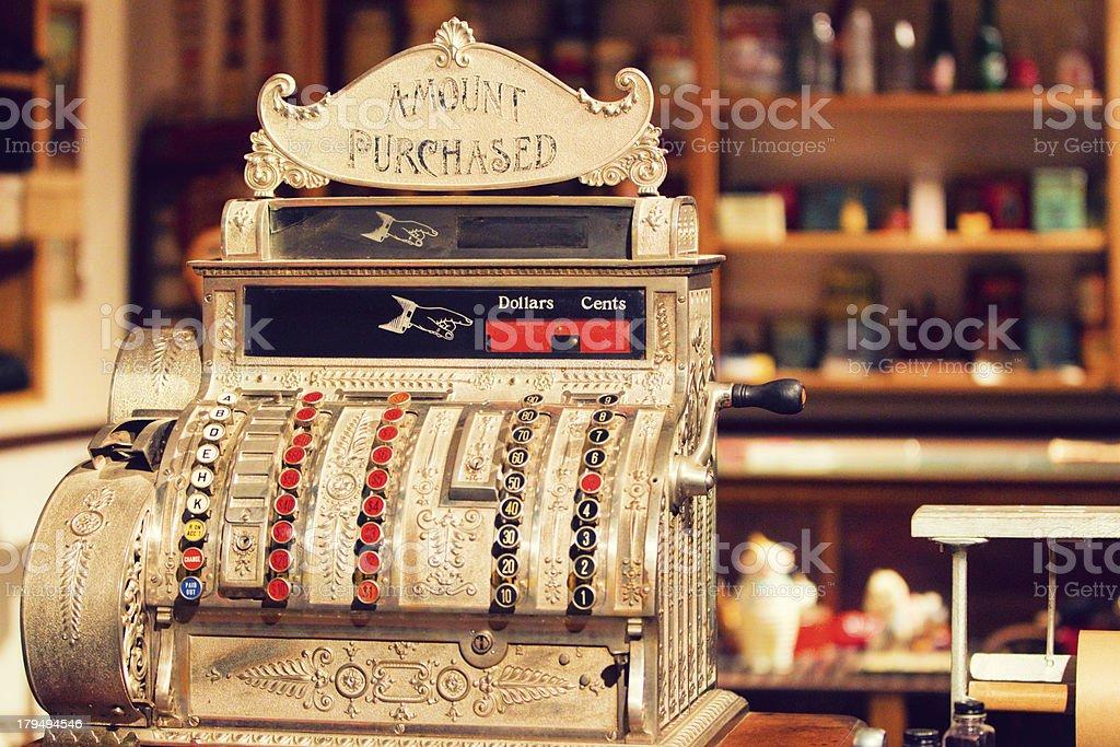 Caixa de antiguidades no Old General Store - foto de acervo