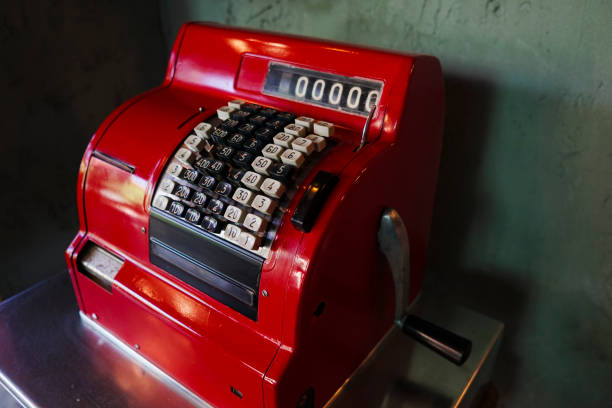 Antique Cash Register Antique red cash register cash register stock pictures, royalty-free photos & images