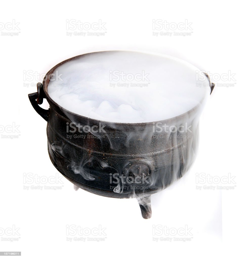 Antique cauldron royalty-free stock photo