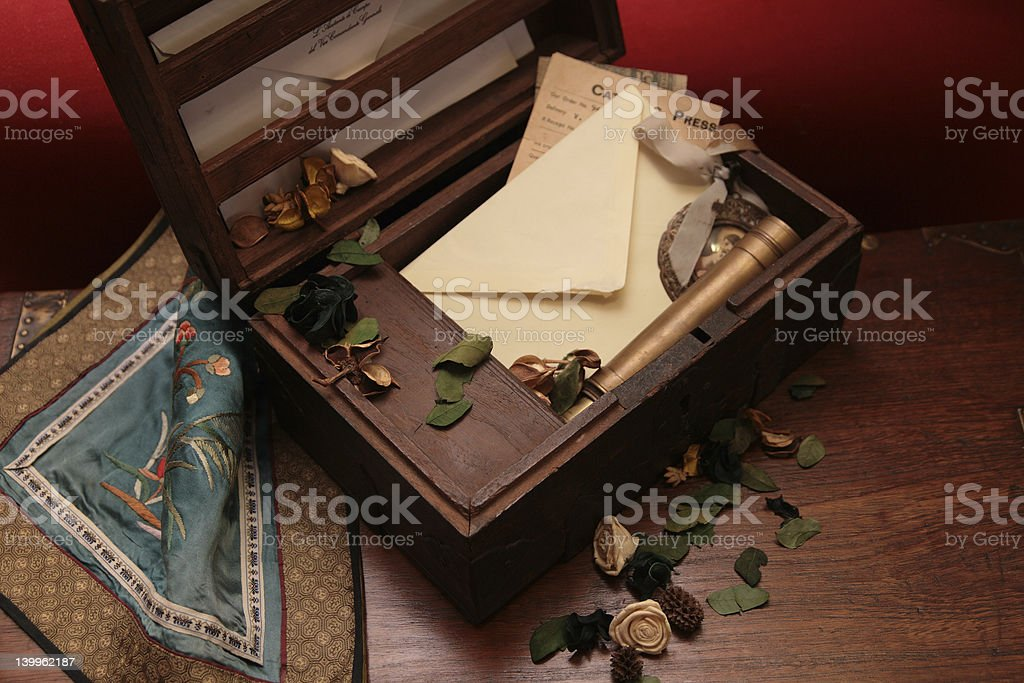 Antique ceder chest royalty-free stock photo
