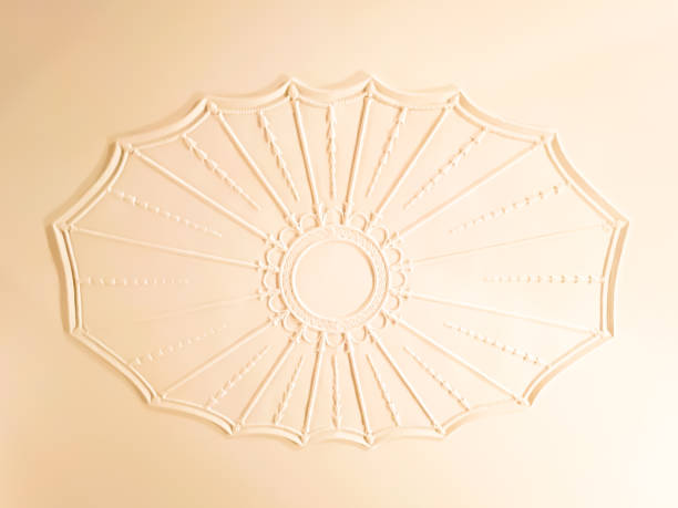 Antique Ceiling Medallion Plaster Molding Plaster ceiling molding medallion. plaster ceiling design stock pictures, royalty-free photos & images