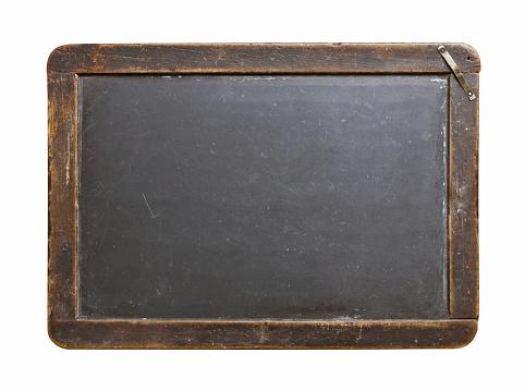 Old wood framed chalkboard. Horizontal shot.
